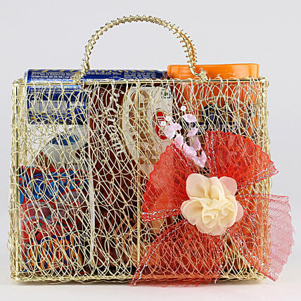 Sweet Snack Hamper In Mesh Bag: Gift Hampers