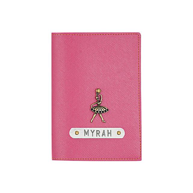 Textured Passport Cover Dark Pink: Personalised Accessories