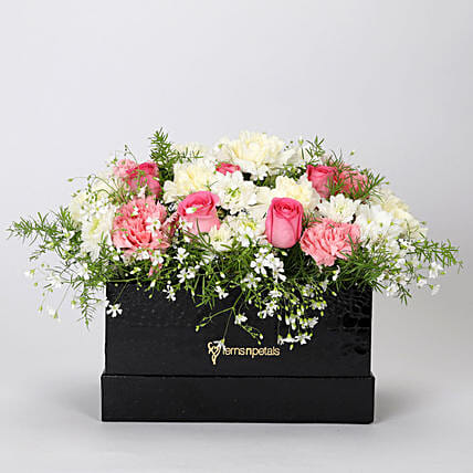 The Dainty Floral Box Arrangement: Premium Flowers