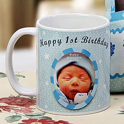The First Milestone Personalized Mug: 1st Birthday Gifts