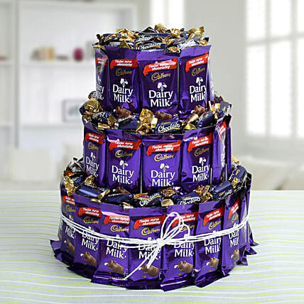 Dairy Milk Chocolate & Eclairs Arrangement: Cadbury Chocolates