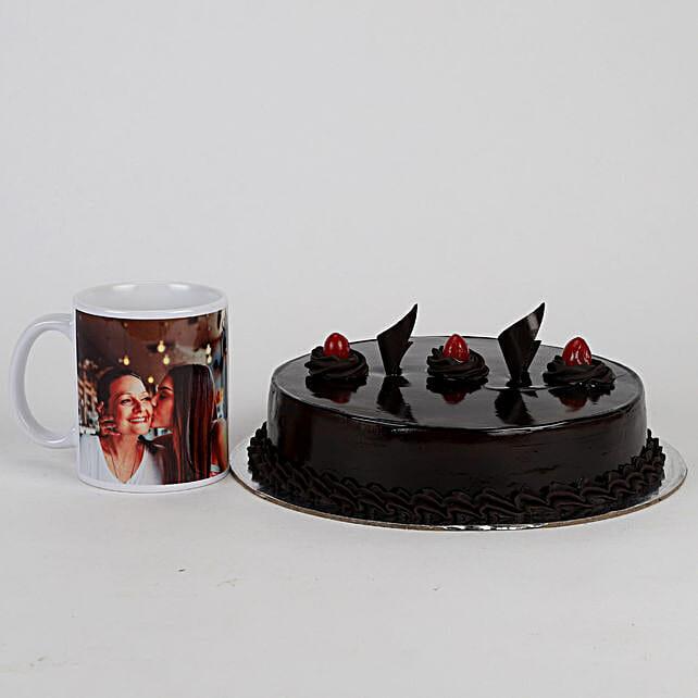 Truffle Cake & Personalised Mug For Mom: Cakes N Personalised Gifts