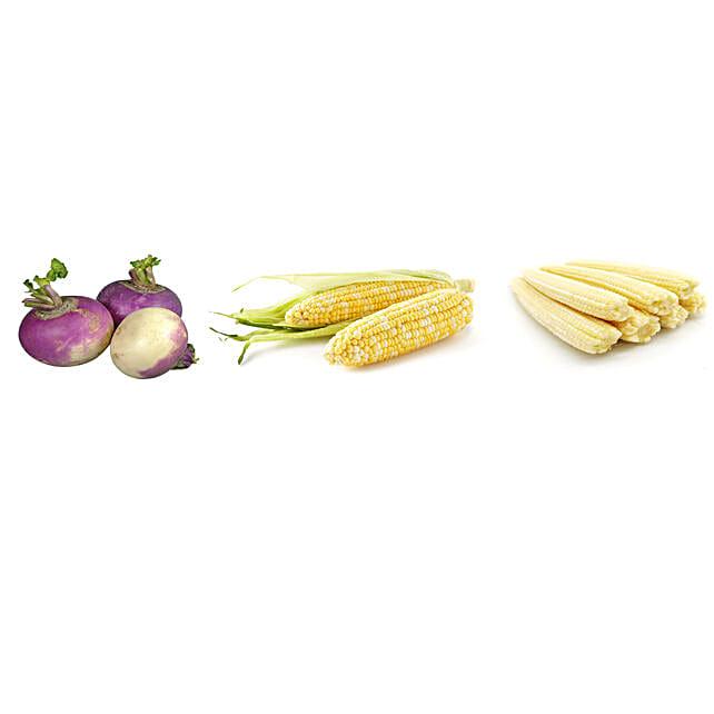 Turnip Sweet Corn & Baby Corn Seeds Combo: