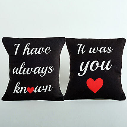 2 Printed Cushion Combo: Just Because Gifts