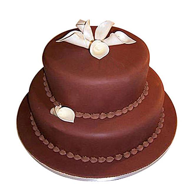 2 Tier Fondant Truffle Cake: Multi Tier Cakes