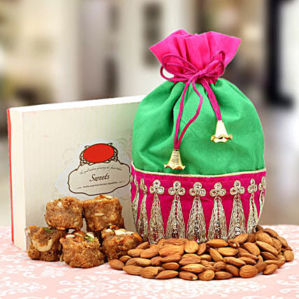 A Serene Surprise: Sweets & Dry Fruits for Bhai Dooj