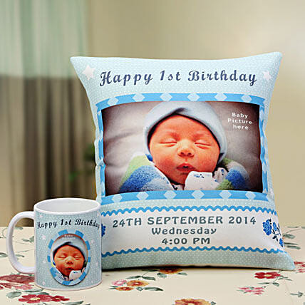 Angelic Dreams Personalized Combo: Personalised Cushions for Him