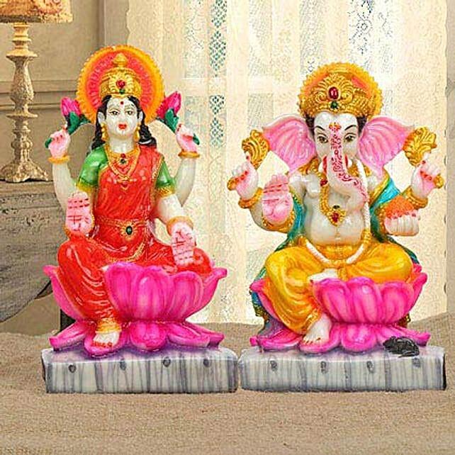 Auspicious Diwali Delight: Laxmi Ganesha Idol Gifts