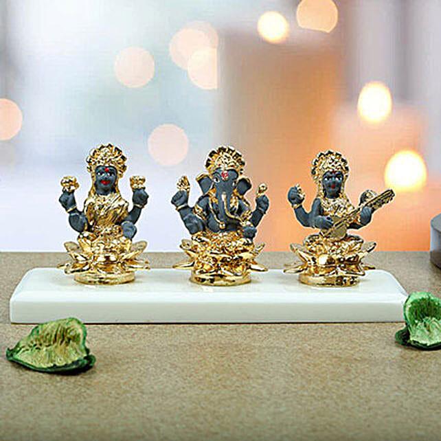 Auspicious Lakshmi Ganesha N Saraswati: Order Plants n Dry Fruits