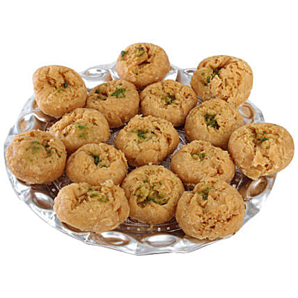 Balushahi In Silver Tray: Buy Sweets