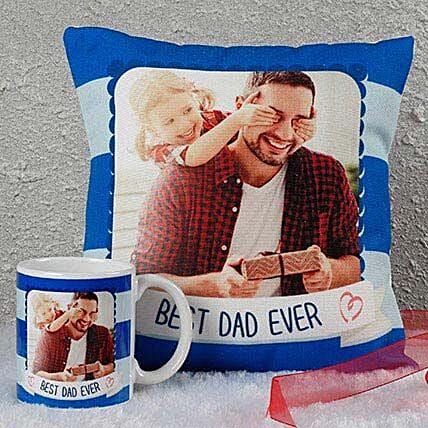 Best Dad Ever Combo: Personalised Cushions for Fathers Day