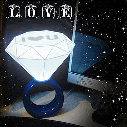 Blue Diamond Ring Night Lamp: Funny Gifts