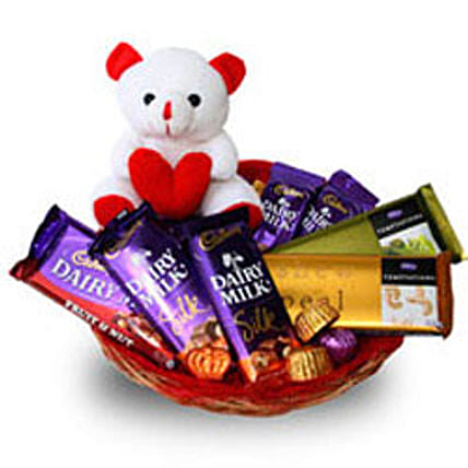 Branded Chocolate Basket: Send Soft toys to Delhi