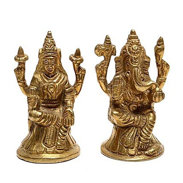Brass Lakshmi Ganesha Idol: Laxmi Ganesh Gifts