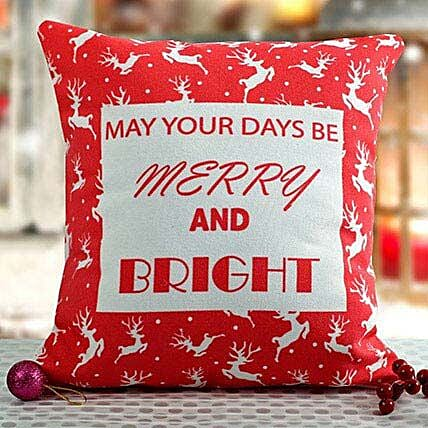 Bright Christmas Cushion: Send Christmas Gifts For Wife