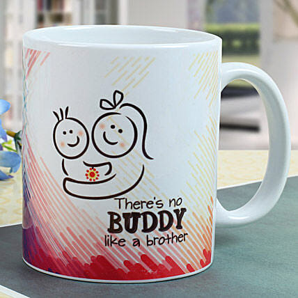 Buddy Brother Mug: Rakhi Gifts to Bharuch