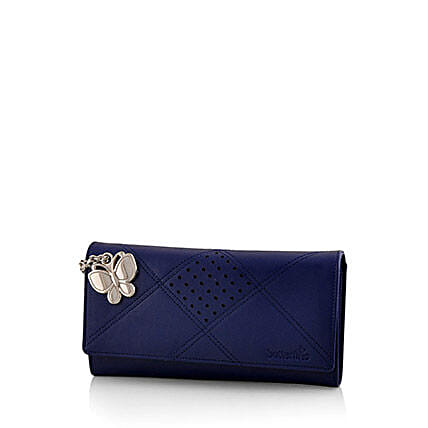 Butterflies Exotic Blue Wallet: Buy Handbags