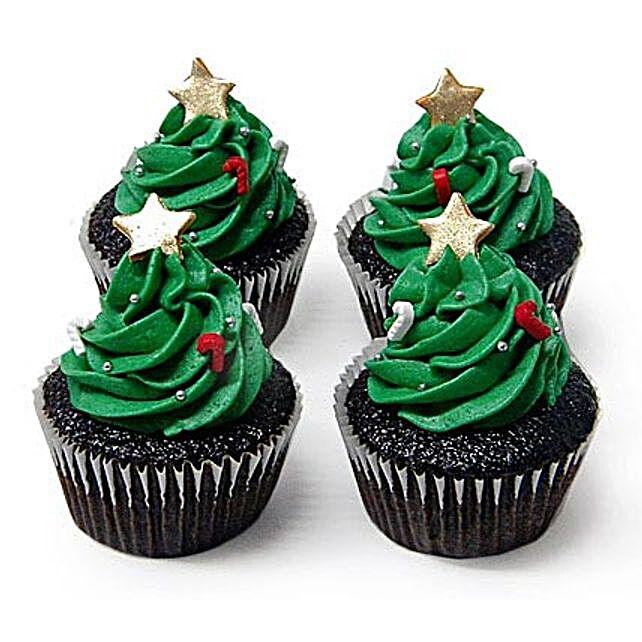 Christmas Tree Cupcakes: Christmas Giftsto Chennai