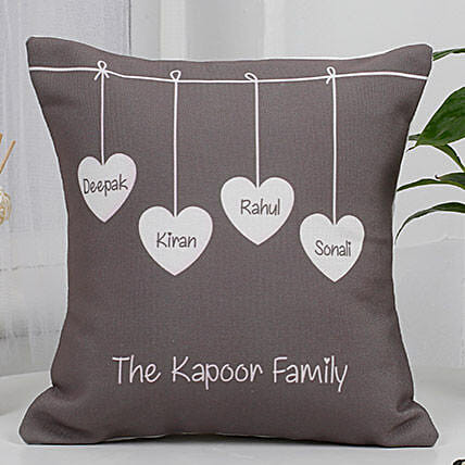 Cute Family Cushion: Fathers Day Personalised Cushions