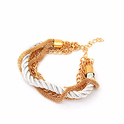 Fantastic White Stacked Party Bracelet: Friendship day Bracelets