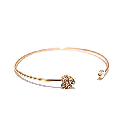 Gold Heart Bracelet: Jewellery Gifts