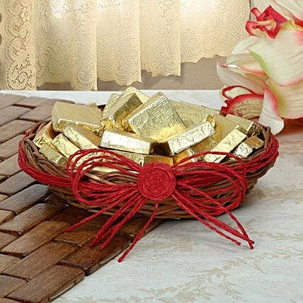 Golden Choco Basket: Diwali Gifts for Brother