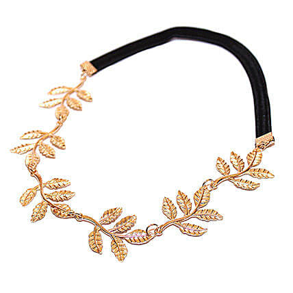 Golden Leaves Head Band: Fashion Accessories