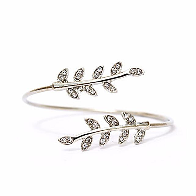 Grecian Leaves Silver Bracelet: Send Jewellery Gifts