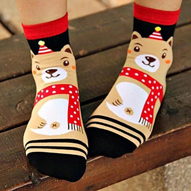 Happy Bear Ankle Length Socks: Unusual Gifts
