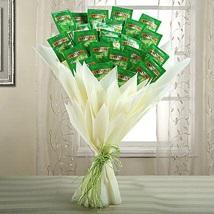 Healthy Bouquet Of Green Tea: Send Gifts to Haveri