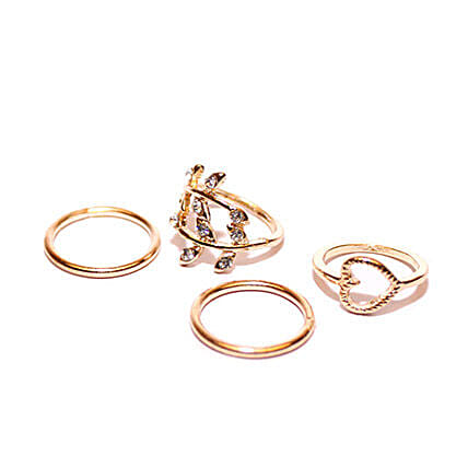 Heart Midi Ring Set: Buy Rings