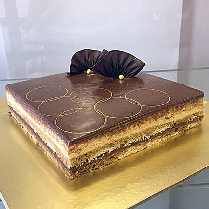 Joyful Opera Cake: New Year Cake
