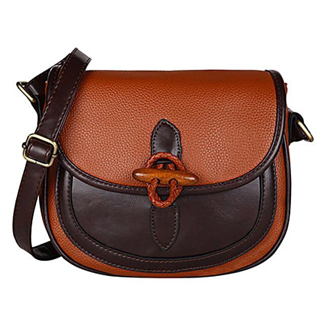 Lino Perros Blue Modish Sling Bag: Sling Bags