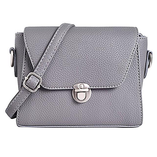 Lino Perros Fashionable Grey Sling Bag: Sling Bags for Women