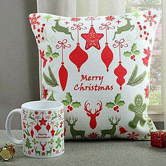 Lovely Cushion N Mug Combo: Buy Christmas Combos
