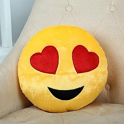Lovely Hearts Yellow Cushion: Soft toys for birthday