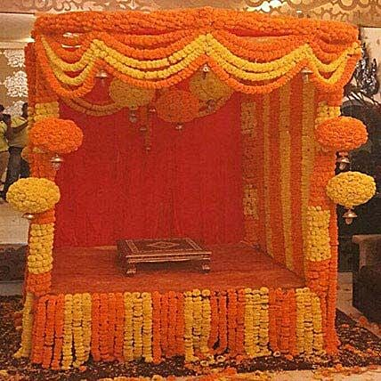 Marigold Special Ganpati Decoration: Flower Decorations