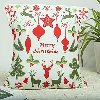 Merry Christmas Cushion: Send Christmas Gifts For Boyfriend