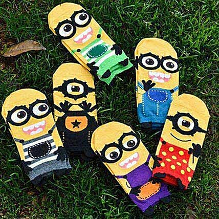 Minions Despicable Me Ankle Socks 5 Pairs: Funny Gifts