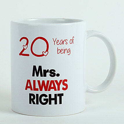 Personalised Mrs Right Mug: 75th Anniversary Gifts