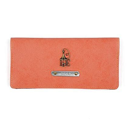Personalised Peach Womens Wallet: Fashion Accessories
