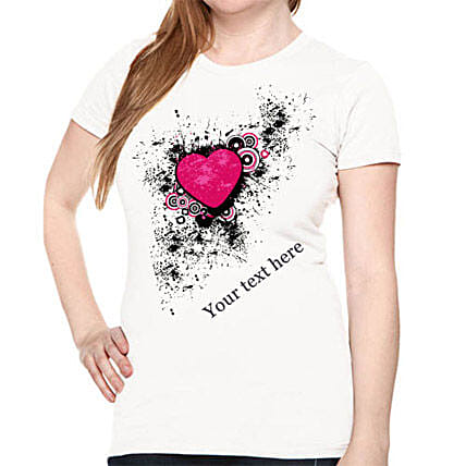 Personalize Your Heart T shirt For Her: Apparel Gifts