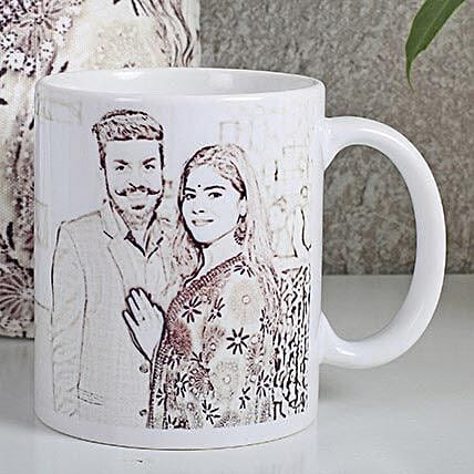 Personalized Couple Sketch Mug: Custom Photo Coffee Mugs