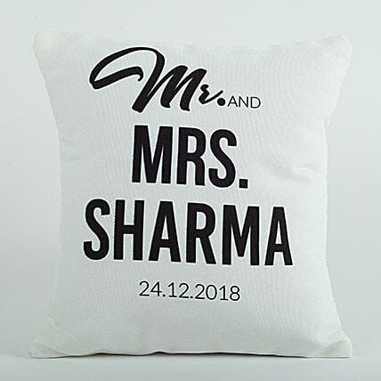 Personalized Cushion Mr N Mrs: Anniversary Gifts