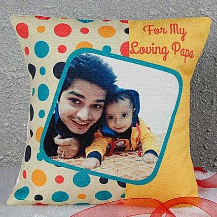 Personalized Loving Papa Cushion: Fathers Day Personalised Cushions