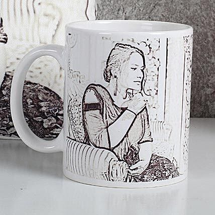 Personalized Sketch Mug: Caricatures