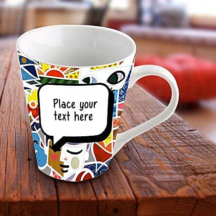 Personalized Vibrant Mug: Personalised Mugs - Love