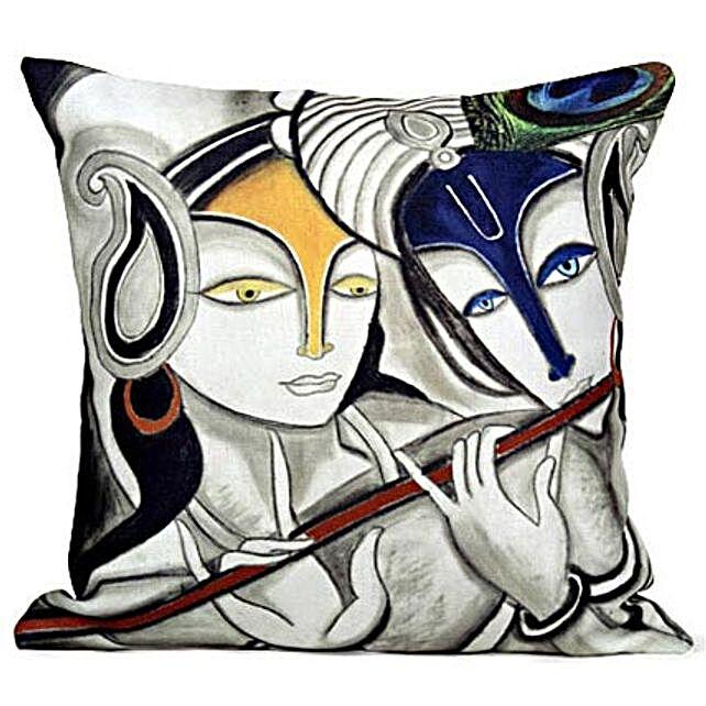 Radha Krishan Cushion: Send Spiritual Gifts
