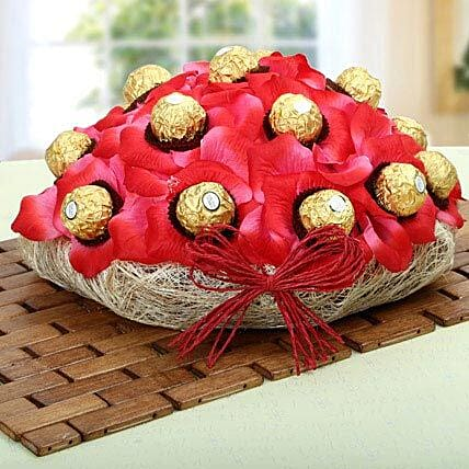 Red Ferrero Chocolate Basket: Return Gifts for Kids