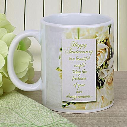 Rose Print Message Mug: Personalised Gifts for Grandparents